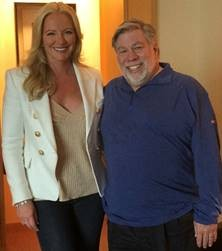 Baroness Michelle Mone OBE and Steve Wozniak