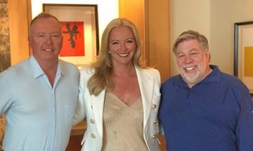 Doug Barrowman, Lady Michelle Mone OBE and Steve Wozniak