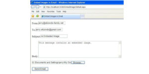How to best employ embedded images in an email