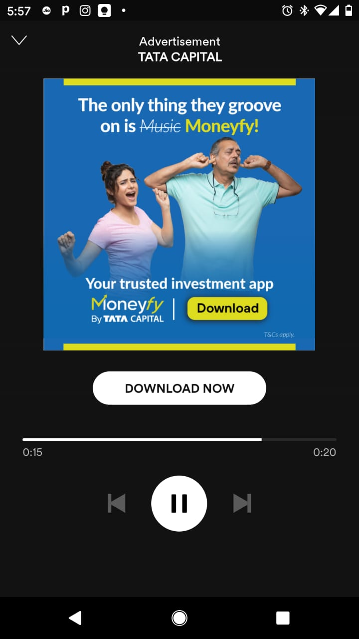 A sample graphic of Spotify Audio Ads